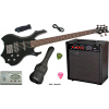 5-Saiter Metal E-Bass in Gothik Black, Set mit 60W Amp. und Stim