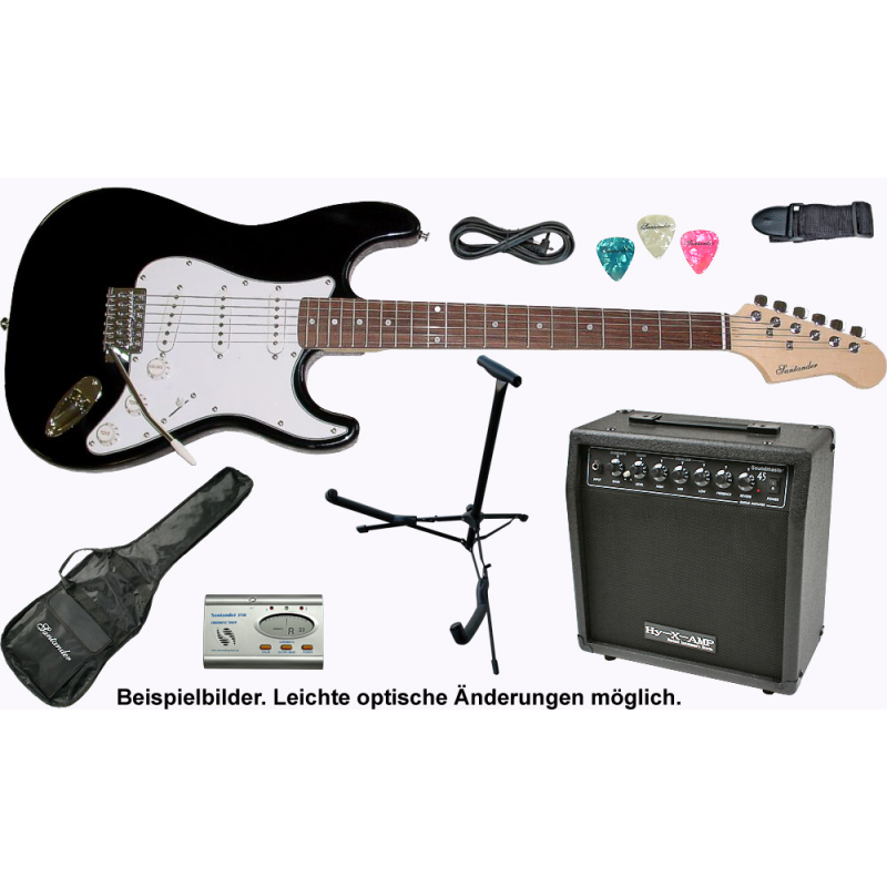 E-Gitarre Set Komplett mit Verstärker, Stimmgerät und Gitarren ...