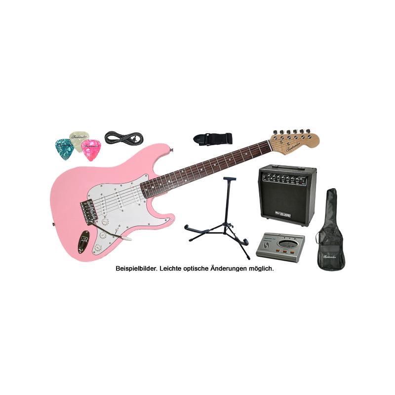 E-Gitarre Set Komplett mit Verstärker Stimmgerät Gitarrenständer ...