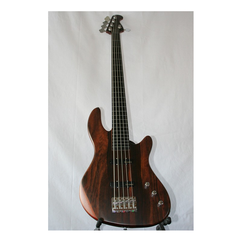 JB-5NA Weller Bass Fretless 5saiter Neckthru Bubinga/Mahagoni ...